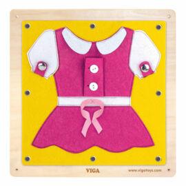 Falra szerelhető készségfejlesztő játék - Kis gombos  ruha