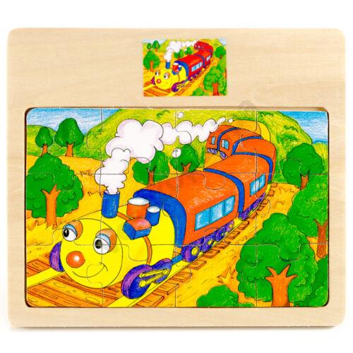 Puzzle vonat - 12 darabos