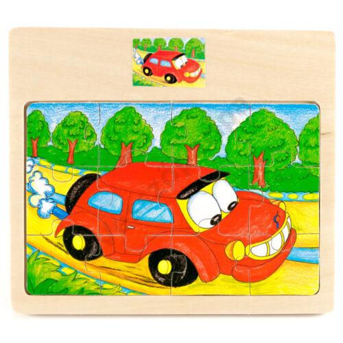 Puzzle autós - 12 darabos