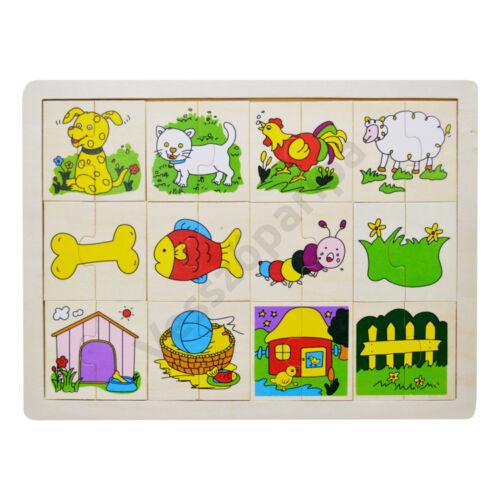 Puzzle felezős - állatos