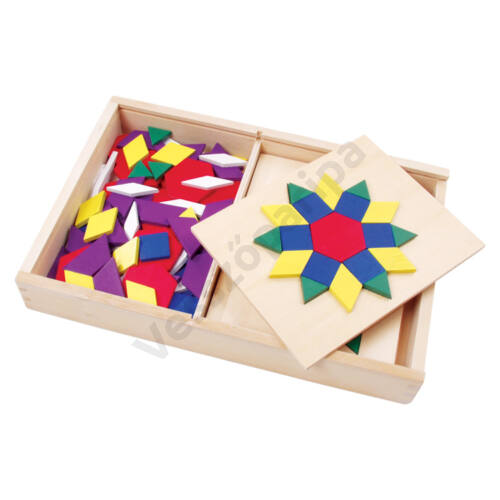 Mozaik kirakó készlet fa dobozban