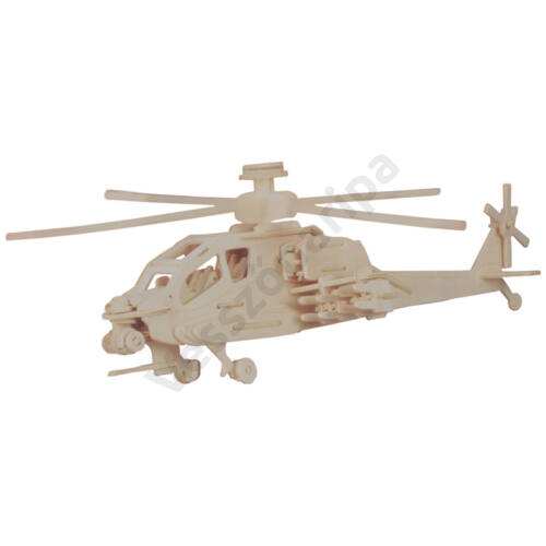 3D puzzle - Apache helikopter
