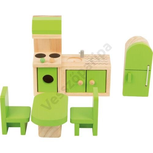 Babaház bútor - konyha - zöld