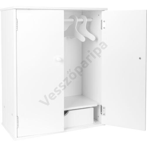 Fehér fa játék ruhásszekrény
