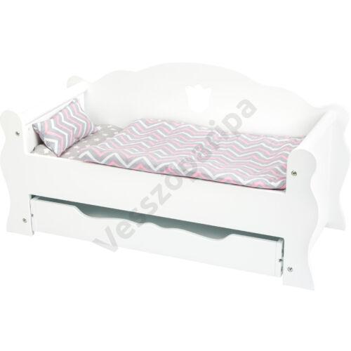 Fehér babaágy - kanapévá alakítható
