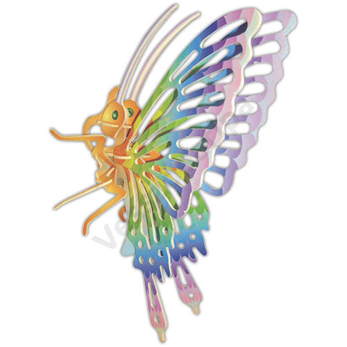 3D puzzle - Színes pillangó