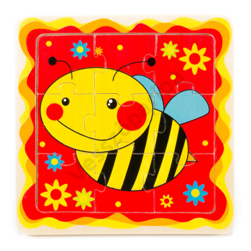 Méhecskés puzzle - 9 darabos