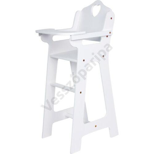 Etetőszék - fehér, felnyitható asztallal