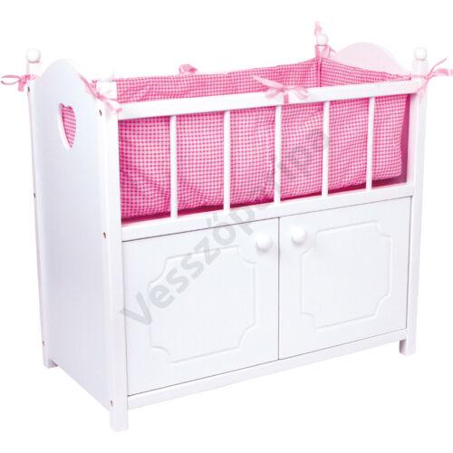 Játék babaágy és ruhásszekrény egyben