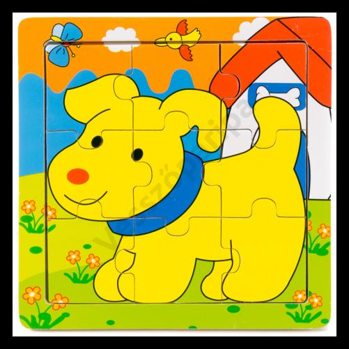 Kutyás puzzle - 9 darabos