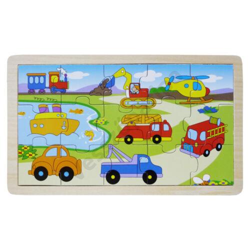 Puzzle járműves - 15 darabos