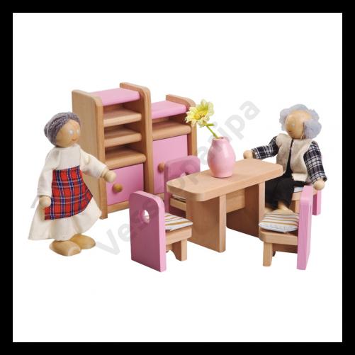 Babaház bútor - étkező