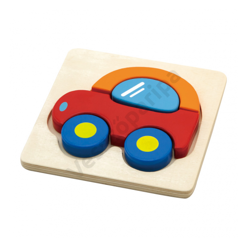 Magasított puzzle - autó