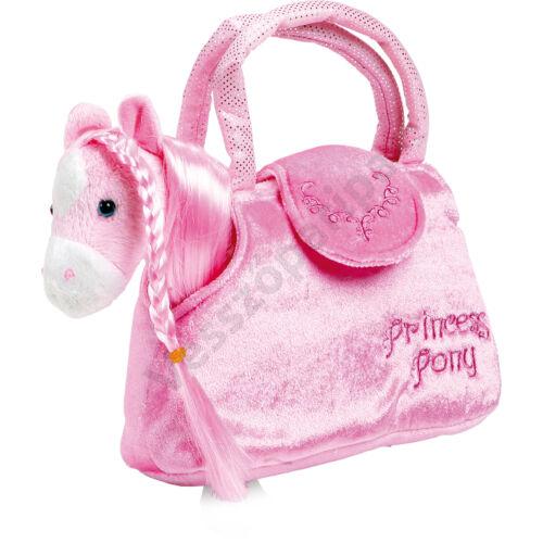 Hordozható plüss hercegnő póni táskával
