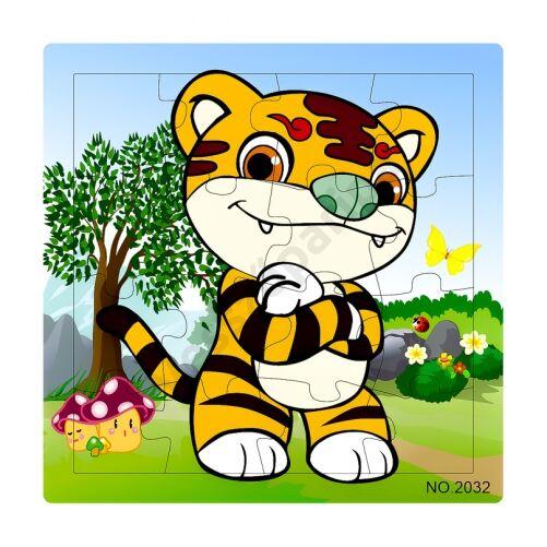 Puzzle tigris - 16 darabos