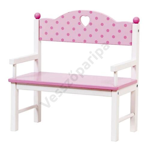 Rózsaszín kerti pad