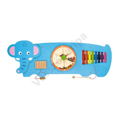 Falra szerelhető készségfejlesztő játék - elefánt