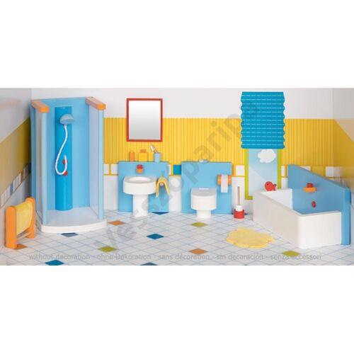 Babaház bútor - modern  fürdőszoba bútor kiegészítőkkel - goki