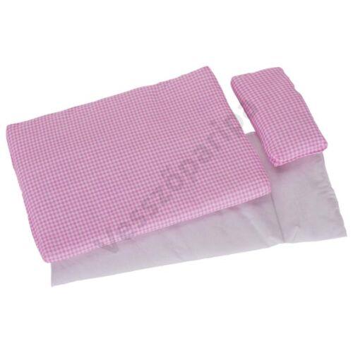Goki 3 részes ágynemű - Rózsaszín kockás