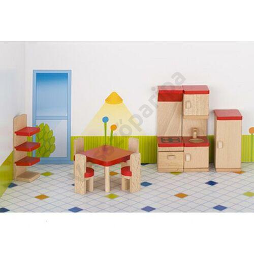 Babaház bútor - piros konyha bútor kiegészítőkkel - goki