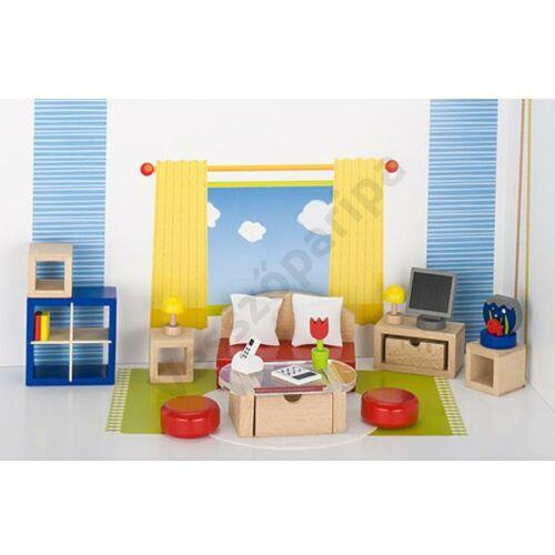 Babaház bútor - modern nappali szoba bútor és háló egyben - goki