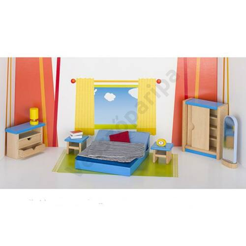 Babaház bútor - hálószoba bútor kiegészítőkkel - goki