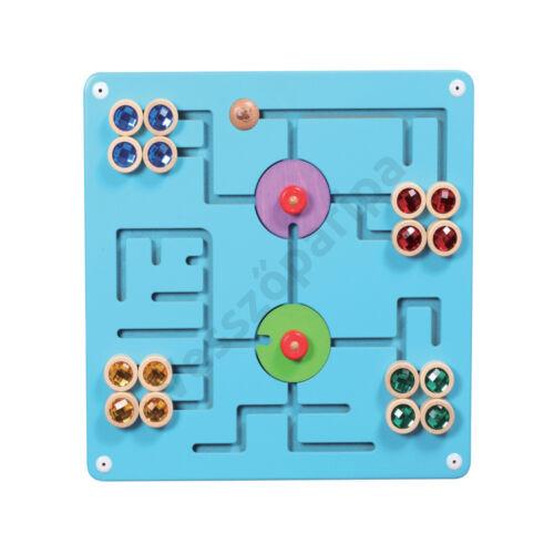 Falra szerelhető logikai játék - útvesztő kincsekkel