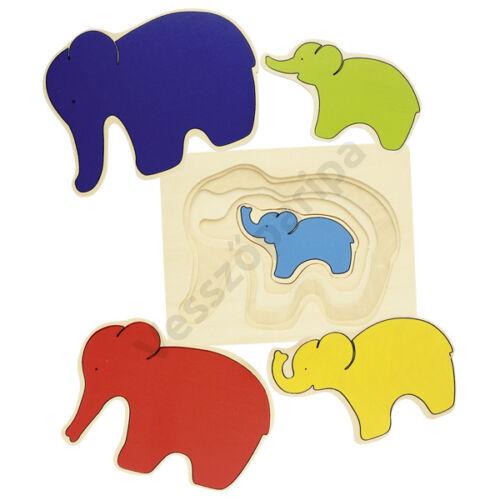 Goki - Elefántok emeletes puzzle