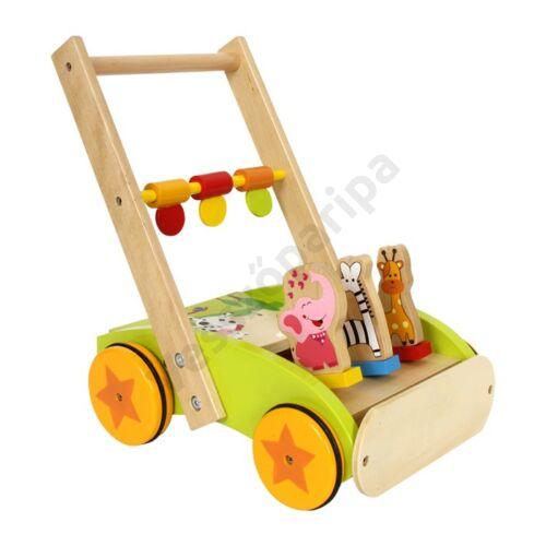 Állatos járássegítő kiskocsi