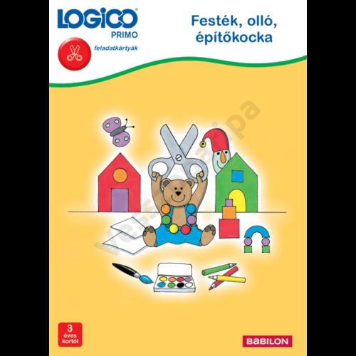 LOGICO PRIMO - feladatkártyák - Festék, olló, építőkocka