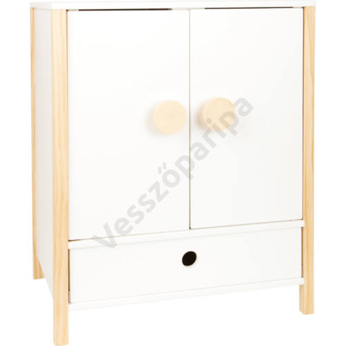 Fehér játék ruhásszekrény fiókkal