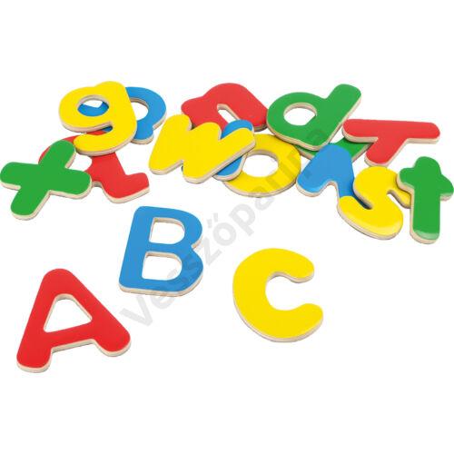 Mágneses ABC fából - színes