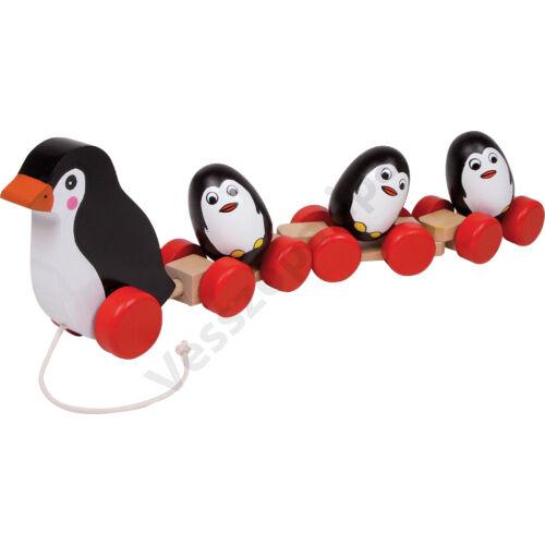 Húzogatós pingvin család