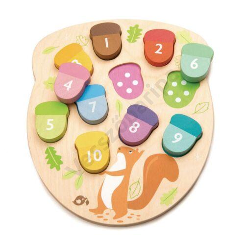Hány makk van? formalap - Tender Leaf Toys