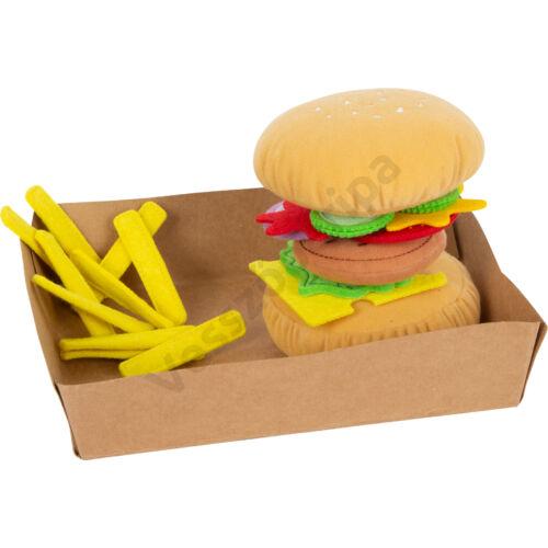 Textil hamburger filc sült burgonya textil zöldségek