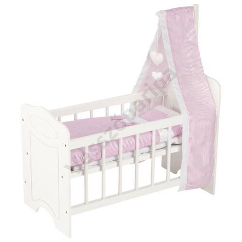 Játék babaágy ágyneművel és baldachinnal - GOKI