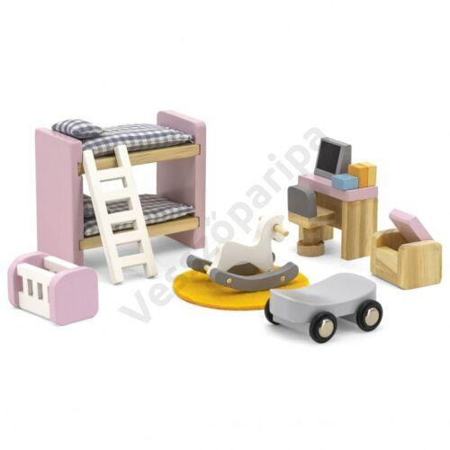 Babaház bútor -gyerek szoba, pasztell színben - PolarB