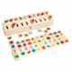 Kép 2/4 - Szortírozó doboz fából - számok, formák, színek