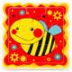 Kép 1/2 - Méhecskés puzzle - 9 darabos
