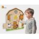 Kép 3/3 - Falra szerelhető készségfejlesztő játék - zárak háza