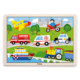 Kép 1/3 - Fa puzzle - városi járművek - 24 részes kirakó